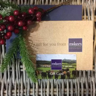 Christmas gift cards at McKee's Country Store