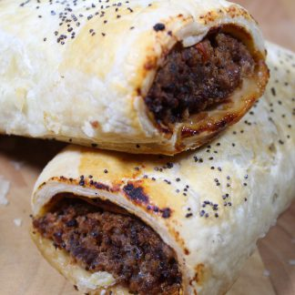 picture of beef and tomato sausage roll