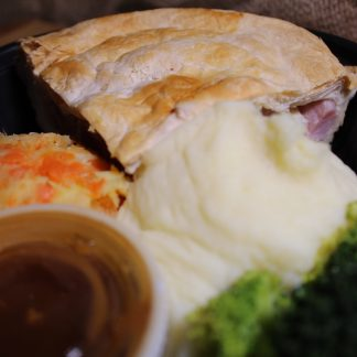Picture of chicken and ham pie dinner